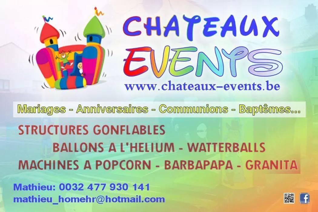Flyers chateaux events location gonflable