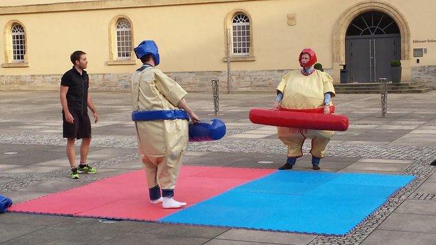 Jeux sumo gonflables Virton Aubange Arlon en province de Luxembourg