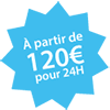 Location à partir de 120 euros Chateaux Events