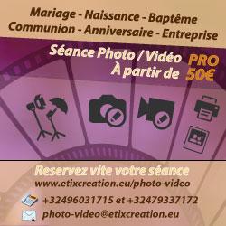 Service photographe : mariage, baptême, communion, anniversaire. Luxembourg, Arlon