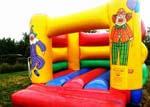 chateau gonflable clown disponible-location arlon, floreville, virton